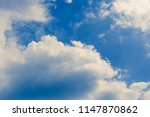 blue sky background with clouds | Shutterstock . vector #1147870862