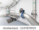 pipelines in waterworks | Shutterstock . vector #1147870925
