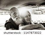 portrait of an senior hipster... | Shutterstock . vector #1147873022
