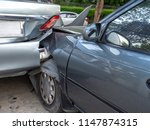 car crash accident on street... | Shutterstock . vector #1147874315