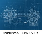 abstract technology background. ... | Shutterstock .eps vector #1147877315
