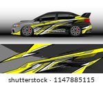 car wrap design vector  truck... | Shutterstock .eps vector #1147885115