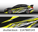 car wrap design vector  truck... | Shutterstock .eps vector #1147885145