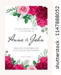 wedding  invitation. greeting...   Shutterstock .eps vector #1147888052