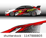 car wrap design vector  truck... | Shutterstock .eps vector #1147888805