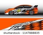 car wrap design vector  truck... | Shutterstock .eps vector #1147888835