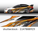 car wrap design vector  truck... | Shutterstock .eps vector #1147888925