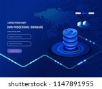 data analysis processing big... | Shutterstock .eps vector #1147891955