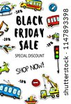 kids sale banner. black friday... | Shutterstock .eps vector #1147893398