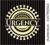 urgency gold emblem | Shutterstock .eps vector #1147900562