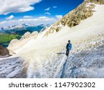 ascent to marmolada  dolomites  ... | Shutterstock . vector #1147902302