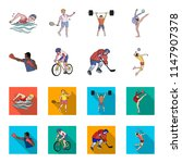 cycling  boxing  ice hockey ... | Shutterstock . vector #1147907378