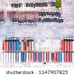 top view of trucks and trailers ... | Shutterstock . vector #1147907825