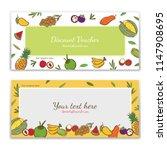 tropical fruits theme gift...   Shutterstock .eps vector #1147908695
