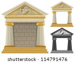 Greek Temple  Cartoon Greek...