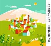vector illustration in simple... | Shutterstock .eps vector #1147928978