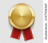 gold badge. golden realistic... | Shutterstock .eps vector #1147936565