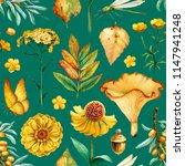 summer seamless pattern with...   Shutterstock . vector #1147941248
