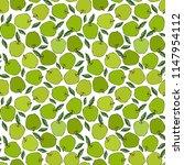 green apple seamless endless... | Shutterstock .eps vector #1147954112