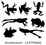Frog Silhouette On White...
