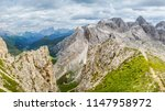 panoramic view of a climber... | Shutterstock . vector #1147958972