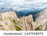 panoramic view of a climber... | Shutterstock . vector #1147958975