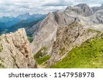 panoramic view of a climber... | Shutterstock . vector #1147958978
