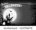 halloween poster  haunted... | Shutterstock . vector #114796078