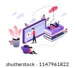 online training  workshops and... | Shutterstock .eps vector #1147961822