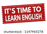 it's time to learn english sign ... | Shutterstock .eps vector #1147965278