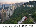 hong kong panorama from the... | Shutterstock . vector #1147981652