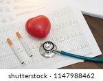 heart disease smoking is... | Shutterstock . vector #1147988462