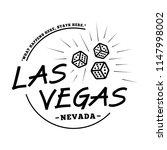 las vegas. black and white logo ... | Shutterstock .eps vector #1147998002