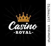 casino royal logo. vector and... | Shutterstock .eps vector #1147998752