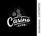 casino club logo. vector and... | Shutterstock .eps vector #1147998755