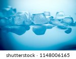close up ice texture in blue... | Shutterstock . vector #1148006165