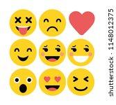 set of emoticons. set of emoji. ... | Shutterstock .eps vector #1148012375