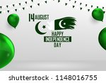 happy independence day pakistan ... | Shutterstock .eps vector #1148016755