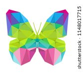 geometric butterfly with many... | Shutterstock .eps vector #1148017715