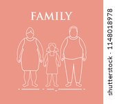 family. mom  dad and daughter.... | Shutterstock .eps vector #1148018978