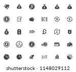 vector business financial icons ... | Shutterstock .eps vector #1148029112
