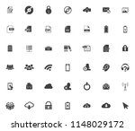 vector phone and computer icons ... | Shutterstock .eps vector #1148029172