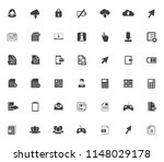 vector phone and computer icons ... | Shutterstock .eps vector #1148029178
