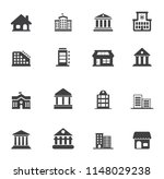 building icons set   vector... | Shutterstock .eps vector #1148029238