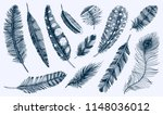 set of rustic realistic... | Shutterstock .eps vector #1148036012