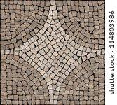 dark brown marble stone mosaic... | Shutterstock . vector #114803986
