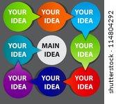concept of colorful circular... | Shutterstock .eps vector #114804292