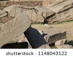 huge ruins of obelisks in the... | Shutterstock . vector #1148043122