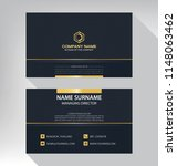 business model name card luxury ... | Shutterstock .eps vector #1148063462
