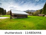 alpine landscape with small... | Shutterstock . vector #114806446